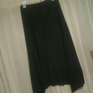 Sunny Leigh A Line Long Black Skirt Elastic Small